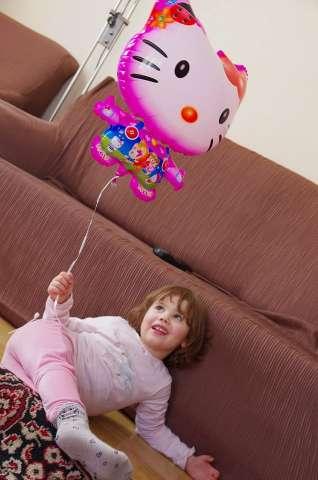 balon dla dzieci napełniony helem